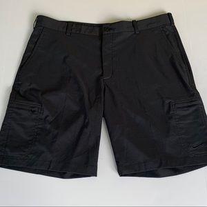 Nike Golf Dri Fit Cargo Shorts in Black.  Size 36